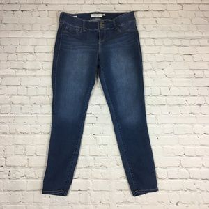 Torrid Blue Skinny Jeggings Size 16 Tall